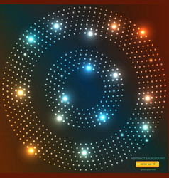 Abstract light circle backround vector