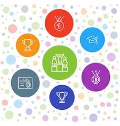 Achievement icons vector