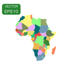 africa map icon business cartography concept vector image