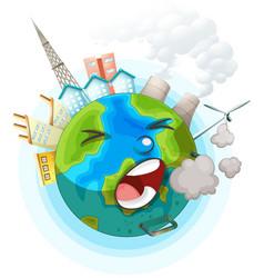 An unhealthy earth ocon vector