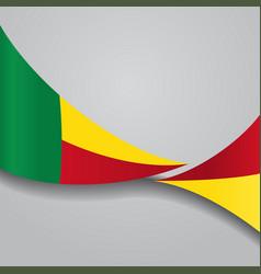Benin wavy flag vector