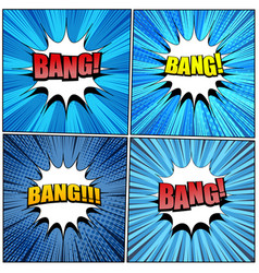 Big collection of bang comic wording vector