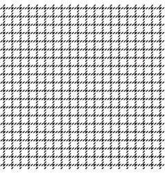 Black tattersall checkered pattern vector