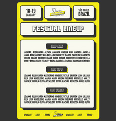 bright and bold festival flyer template vector image