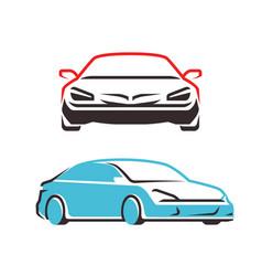 car symbol transport automobile logo vector image