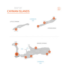 cayman islands map with administrative divisions vector image