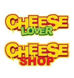 Cheese shop logo design vector