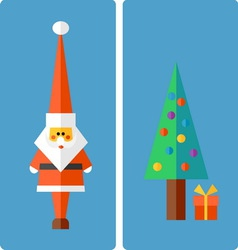 Christmas and New Year greeting vector image