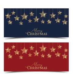 christmas golden stars vector image