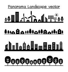 city panorama urban landscape graphic design vector image