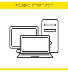 Computers icon vector