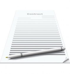 contract and pen vector image