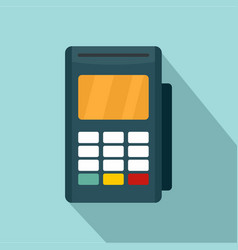 Credit card reader icon flat style vector