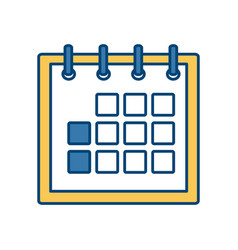 Delivery calendar day agenda plan vector