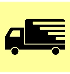 Delivery sign Flat style icon vector image