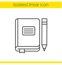 diary notebook linear icon vector image