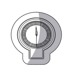 figure sticker clock icon vector image