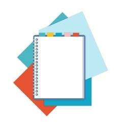 Flat design notepad vector