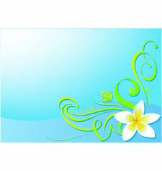 floral bg vector image