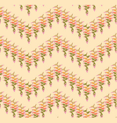 floral leaves pattern seamless background nature vector image