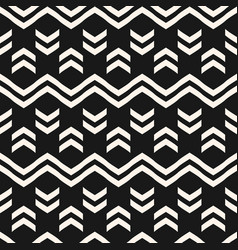 Geometric seamless pattern with zig zag lines vector