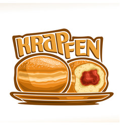 German krapfen vector
