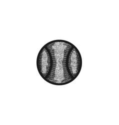 hand drawn tennis ball logo designs inspiration vector image