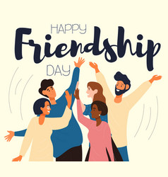 Happy friendship day card or poster design vector