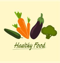 healthy food set vector image vector image