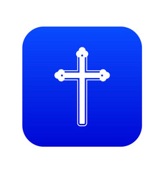 Holy cross icon digital blue vector