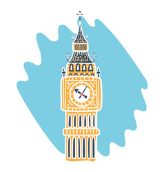 icon big ben tower vector image
