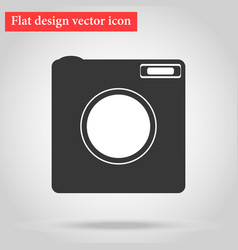 icon symbol flat design camera vector image