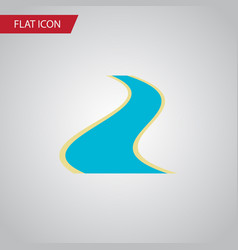 Isolated river flat icon tributary element vector