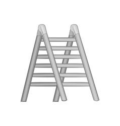 Ladder icon black monochrome style vector image