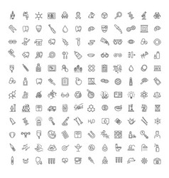 line medicine consepts outline icons set vector image