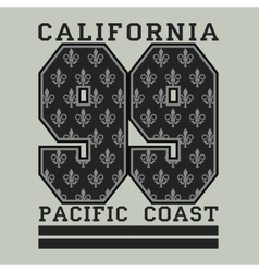 Los angelis ca fashion typography pacific coast vector