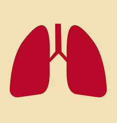 lungs icon flat style internal organs of the vector image