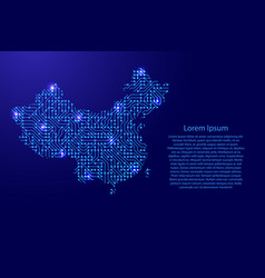 map china from printed board chip and radio vector image