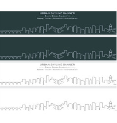 Minneapolis single line skyline banner vector