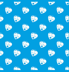 mother pattern seamless blue vector image