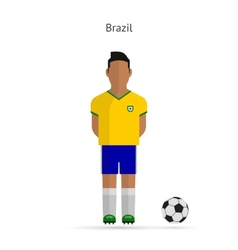 National football player Brazil soccer team vector image