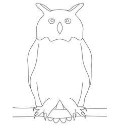 owl stands drawing lines white background vector image
