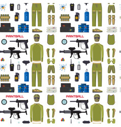 paintball club protection uniform sport game vector image
