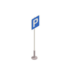 Parking sign icon vector