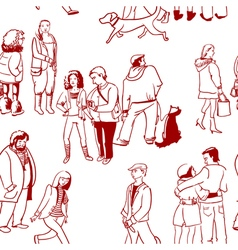 people seamless vector image