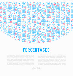 percentages concept with thin line icon vector image