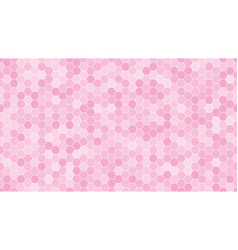 pink hexagonal mosaic background vector image