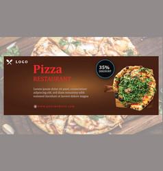Pizza restaurant big discount social media cover vector