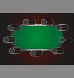 poker or black jack table vector image