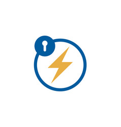 power security logo icon design vector image